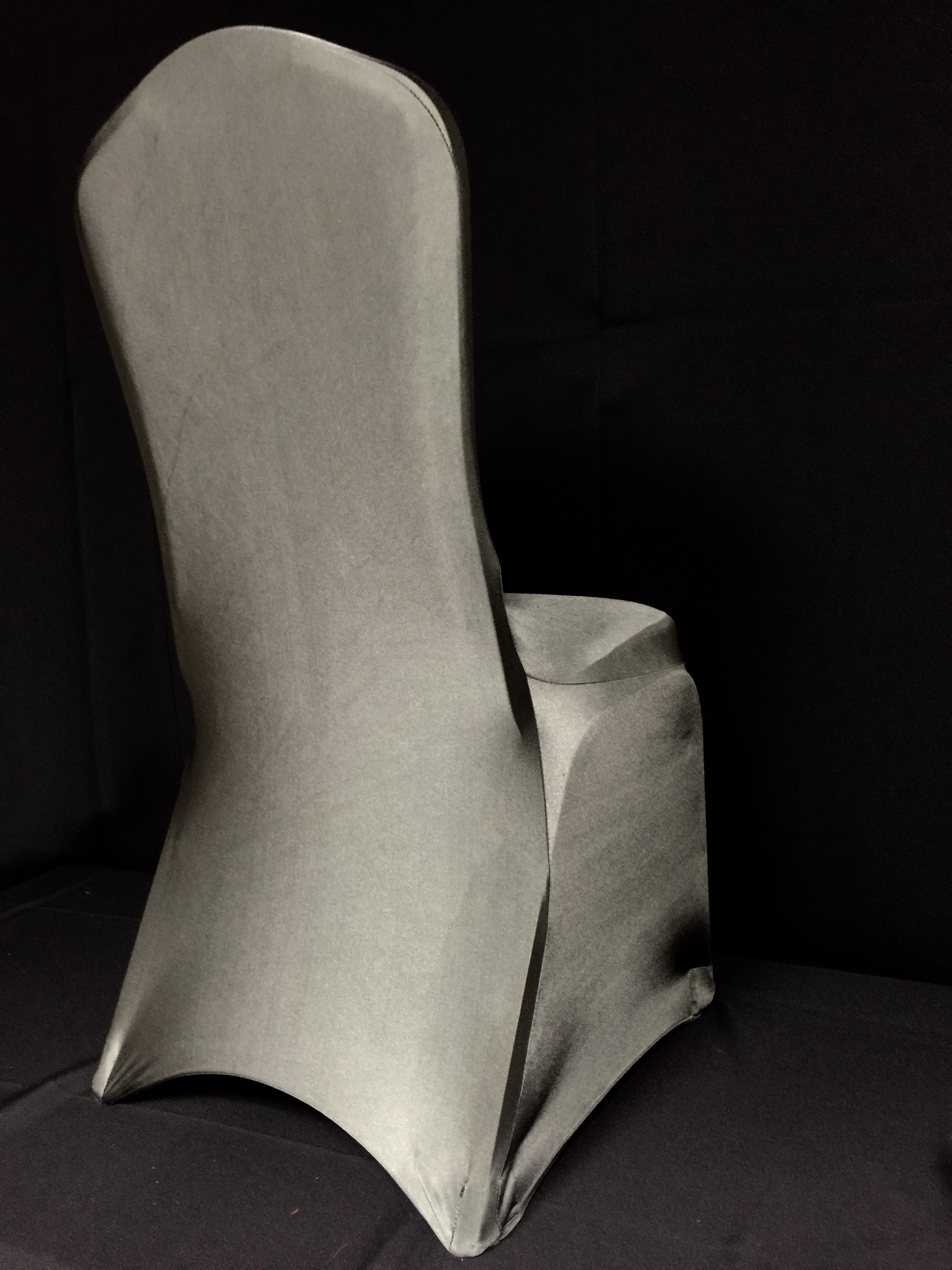 ... Charcoal Grey Spandex Chair Covers. View Larger